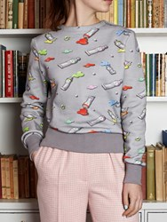 Olympia Le Tan Sweatshirt Oldenburg Print Grey
