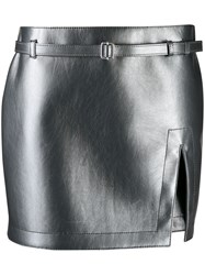 Philosophy Di Lorenzo Serafini Slit Mini Skirt Grey