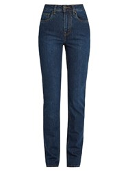 Rockins High Rise Straight Leg Jeans Indigo