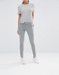 Oasis Grey Mid Rise Skinny Denim Jean Grey