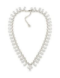 Carolee Cubic Zirconia Studded Collar Necklace White