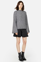 Opening Ceremony Tri Color Boucle Bell Sleeve Pullover Charcoal Multi