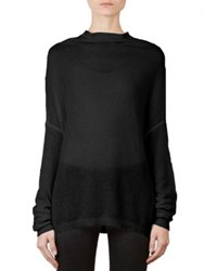 Rick Owens Crater Knit Cotton And Cashmere Sweater