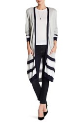 Joseph A Multicolor Striped Cardigan Gray