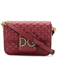 Dolce And Gabbana Dg Millennials Quilted Shoulder Bag Red