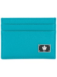 Dolce And Gabbana Crown Logo Plaque Cardholder Blue