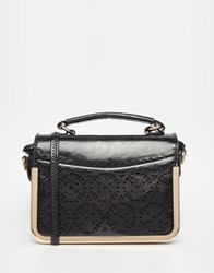 Liquorish Boxy Cross Body Bag Black