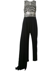 Zuhair Murad Embroidered Jumpsuit Women Silk Polyamide 8 Black