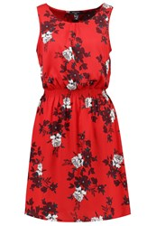New Look Tall Summer Dress Red Multicoloured