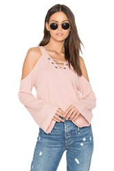 J.O.A. Cut Out Shoulder Top Peach