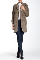 Tracy Reese Cardigan Coat Beige