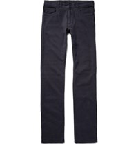 Canali Slim Fit Stretch Cotton Twill Chinos Blue