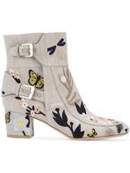 Laurence Dacade Babacar Embroidered Boots Nude Neutrals