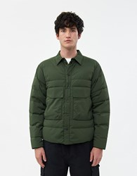 Goldwin Nylon Down Shirt In Cypress Green