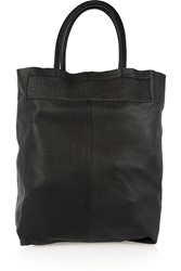 Maje Textured Leather Tote Black
