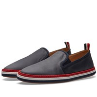 Thom Browne Coated Canvas Espadrille Blue