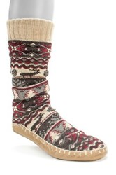 Muk Luks Slipper Socks Red
