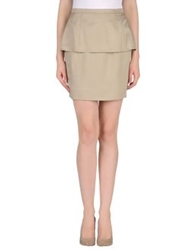 Fendi Knee Length Skirts Grey