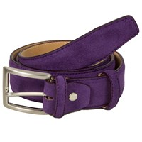 40 Colori Purple Trento Leather Belt Pink Purple
