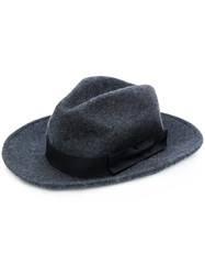 Etro Ribbon Trimmed Fedora Grey