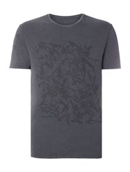Label Lab Bamboo Faded Tee Graphic Dark Grey