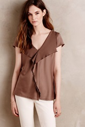 Meadow Rue Cascade Blouse Taupe