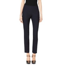Michael Kors Side Zip Stretch Wool Pants Navy