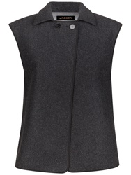 Jaeger Double Faced Wool Gilet Charcoal