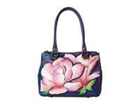 Anuschka Handbags 626 Triple Compartment Medium Tote Magnolia Melody Handbags Multi