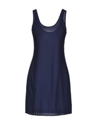 830 Sign Short Dresses Dark Blue