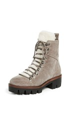Jeffrey Campbell Culvert Sherpa Combat Boots Taupe
