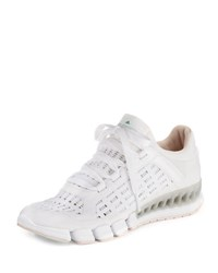 Adidas By Stella Mccartney Clima Cool Knit Running Sneaker White Black Echo