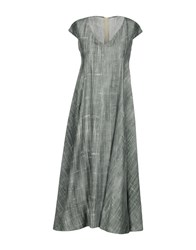 Laviniaturra 3 4 Length Dresses Light Green