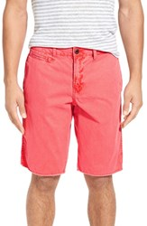 Original Paperbacks Men's 'St. Barts' Raw Edge Shorts Watermelon