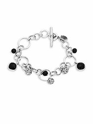 Lois Hill Black Onyx And Sterling Silver Bracelet