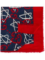 Guccighost Scarf Red