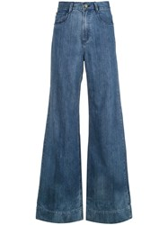 Spacenk Nk Flared Jeans Blue