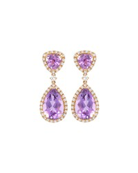 Signature Amethyst And Diamond Drop Earrings Kiki Mcdonough Purple