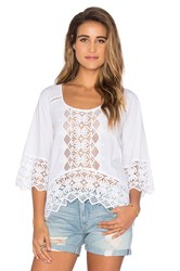 Nightcap Lace Raglan Blouse White