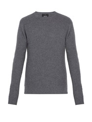 Allude Ribbed Cashmere Sweater Grey