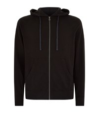 James Perse Vintage Cotton Zip Hoodie Male Black