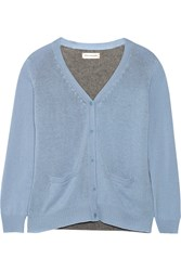 Chinti And Parker Two Tone Cashmere Cardigan Blue