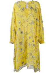 Ashish Embroidered Kaftan Dress Yellow Orange