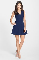Women's Felicity And Coco Back Cutout Fit And Flare Dress Navy