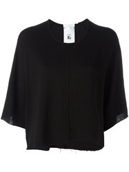 Lost And Found Rooms Cropped T Shirt Black