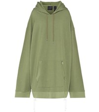 Fenty By Rihanna Oversized Cotton Jersey Hoodie Green