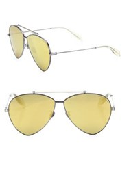 Alexander Mcqueen 63Mm Aviator Sunglasses Gold