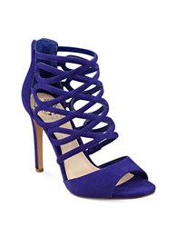 Vince Camuto Krisi Leather Dress Sandals Iris Blue