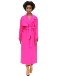 Jacquemus Virgin Wool Coat Fuchsia