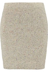 Rebecca Minkoff Luc Merino Wool Blend Mini Skirt Nude